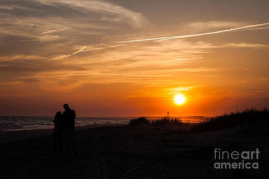 Lovers at Sunset by Vicki Kohler
