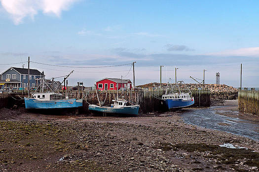 Low Tide at Harbourville Nova Scotia by Brian Chase