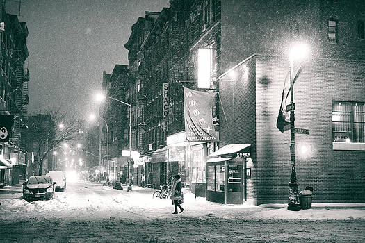 Lower East Side - Winter Night - New York City  by Vivienne Gucwa