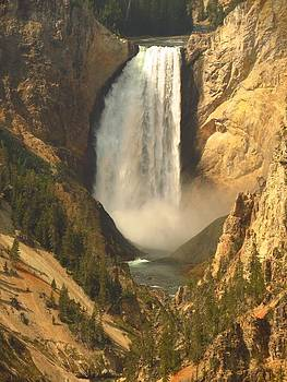 Lower falls at Grand Canyon of Yellowstone by Teresa Cox