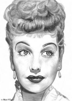 Lucille Ball by Mick ODay