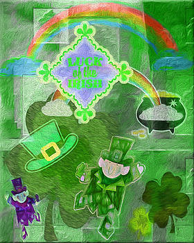 Steve Ohlsen - Luck of the Irish - Painterly Collage
