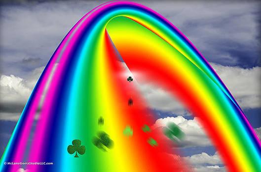 LeeAnn McLaneGoetz McLaneGoetzStudioLLCcom - Lucky Rainbows convert lucky green clover into pots of gold