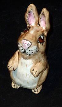 Lucky Standing Rabbit by Debbie Limoli