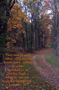 Luke 24 verse 32 by Rebecca Smith