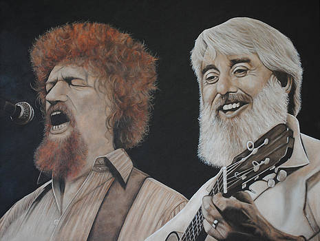 Luke Kelly and Ronnie Drew by David Dunne
