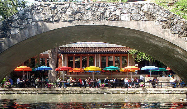 Kathy Peltomaa Lewis - Lunch at the River Walk San Antonio