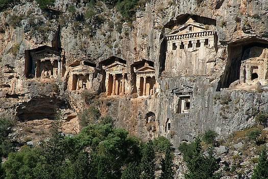 Tracey Harrington-Simpson - Lycian Tombs Cut From Rock Circa 400 BC