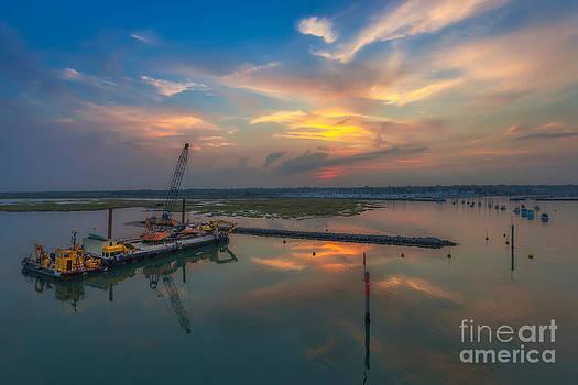 English Landscapes - Lymington River Sunset