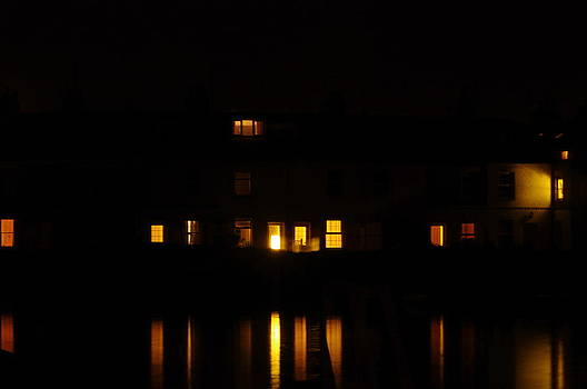 Lympstone at night fall  by Tom Salt