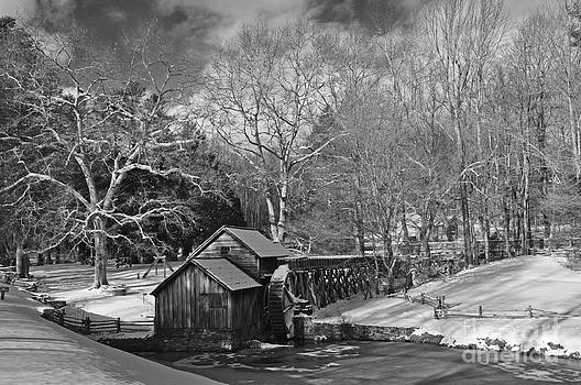 Mabry Mill in Snow by Randy Rogers
