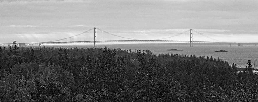 Jack R Perry - Mackinac Bridge in a Rainstorm