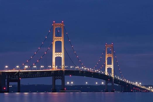 Mackinaw Bridge  by Dorin Stef