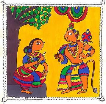 Madhubani Painting by Shruti Bhagwat