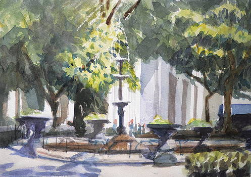 Madison Square Garden Park Fountain NYC by Margaret Montgomery