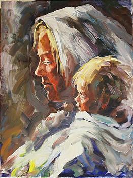 Madonna with child by Olusha Permiakoff