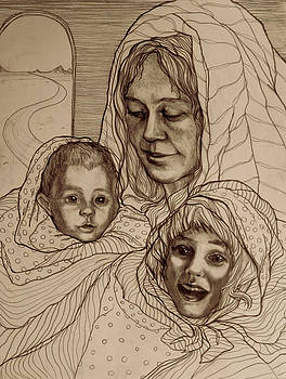 Madonna with children by Olusha Permiakoff