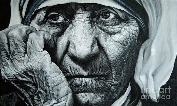 Mother Teresa - painting by Stu Braks