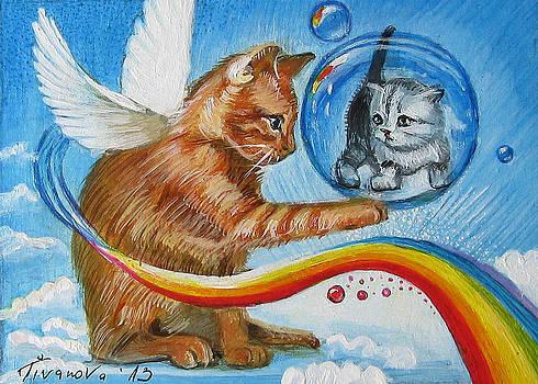 Magic fairy cat by Temenuga Ivanova
