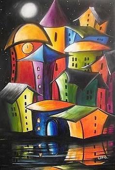 Magic  new stars above the city  by Elizabeth Kawala