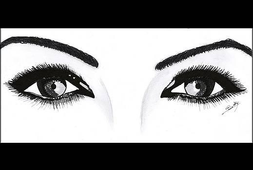 Magnetic Eyes by Saki Art