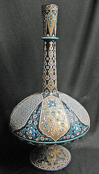 Magnificent Islamic glass vase by Anonymous