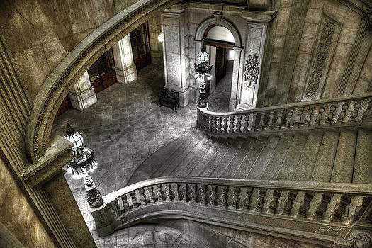 Main Staircase from Above by Ed Cilley