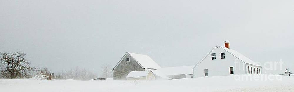 Maine Farm in winter by Christopher Mace