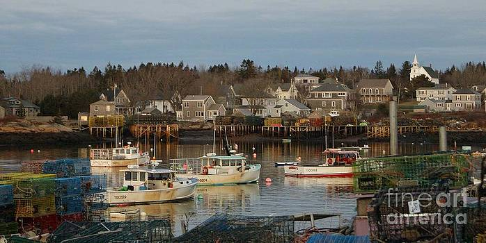 Maine Fishing Village by Christopher Mace