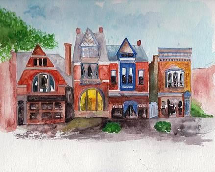 MainStrasse Village - North Main Street by Sandi Stonebraker
