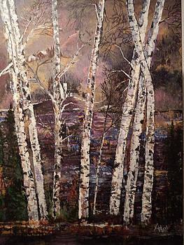 Majestic Birch by Arlen Avernian Thorensen