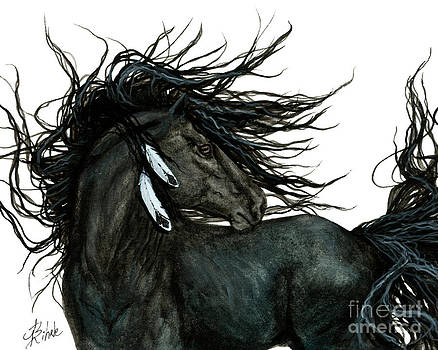Majestic Friesian Stallion by AmyLyn Bihrle