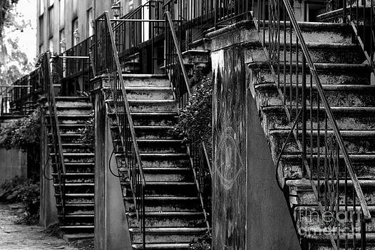 Majestic Stairs Black and White by Pete Dionne