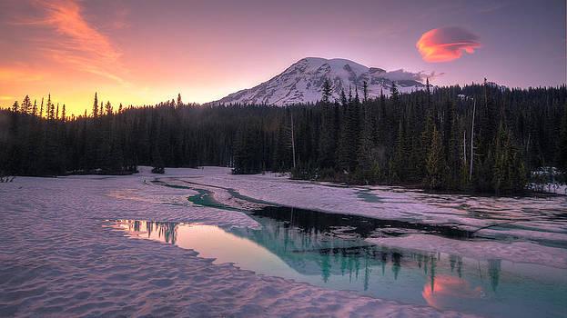 Majestic Sunset by Anthony J Wright