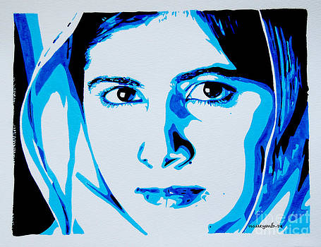 Malala. girls rock. by Nancy Mergybrower