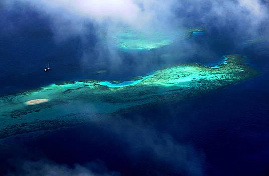Jenny Rainbow - Maldivian Coral Reef. Aerial