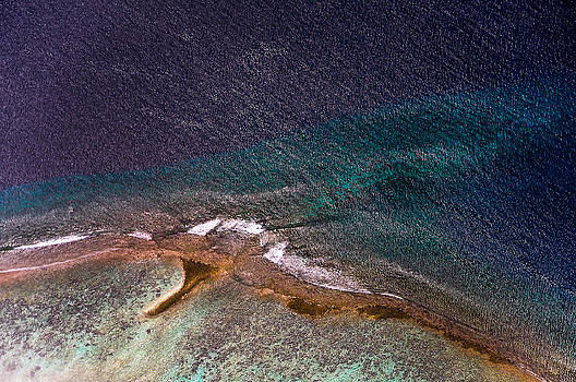 Jenny Rainbow - Maldivian Coral Reefs. Ocean treasure. Aerial Journey over Maldives