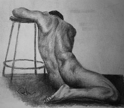 Male Nude 3 by Rachel Hames