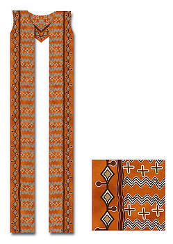 Mali Style Mud Cloth Cotton Clergy Stole by Julie Rodriguez Jones