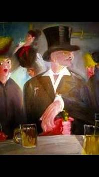Man @ Bar by Calvin Jefferson