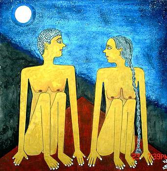 Man and woman by Chandra Patil