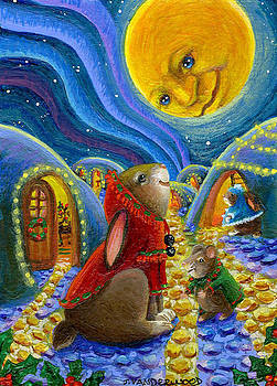 Man in the Moon Christmas Night by Jacquelin Vanderwood