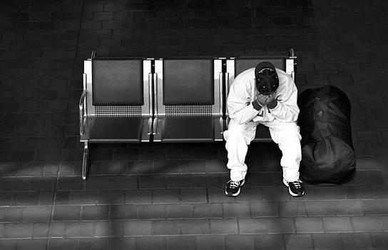 Harold E McCray - Man on Bench-- Union Station