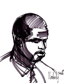 Man Portrait by Natoly Art