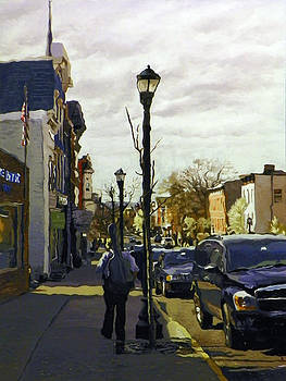 Man With Guitar on Warren by Kenneth Young