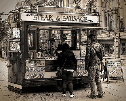 Manchester England Food Vendor by Norman Pogson