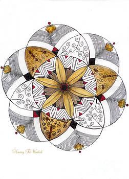 Mandala Of Thanksgiving by Nancy TeWinkel Lauren