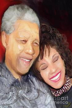 Mandela And Whitney by Vannetta Ferguson