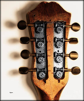 Mandolin Earrings  by Steven  Digman