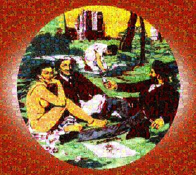Manet Mosaic Picnic by Gabe Art Inc